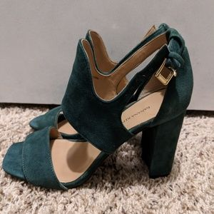 Banana Republic Green Leather Heels Sandals Size 6